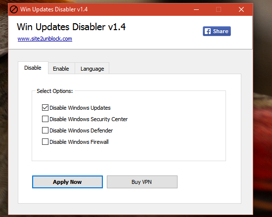 Win update disabler