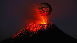 Volcanic Eruption in The American City of Hawaii, Emergency Announcement