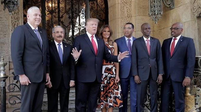 Presidentes caribeños se comprometieron en Florida  con Trump a respaldar a Guaidó
