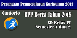 RPP K13 Kelas 6 SD MI Revisi 2018