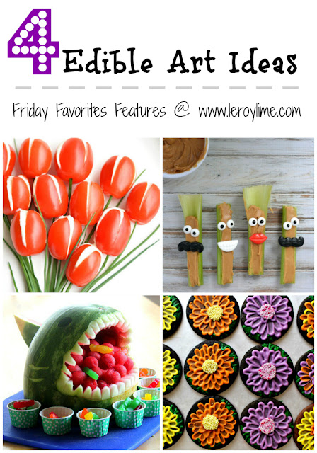 4 Edible Art Ideas - Friday Favorites Features - on the LeroyLime blog