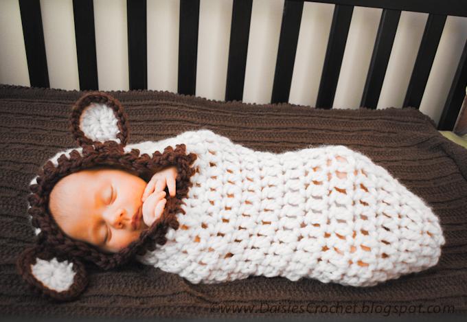 Daisies Crochet Crochet Baby Cocoon Pdf Pattern Beary Warm Cocoon