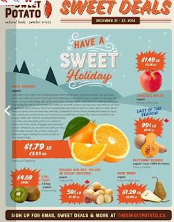 The Sweet Potato Flyer Sweet Deals December 21 - 27, 2018