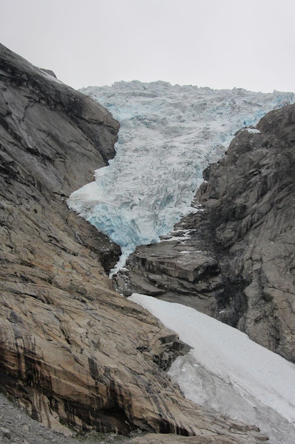 Noorwegen gletsjertong Brigdalsbreen