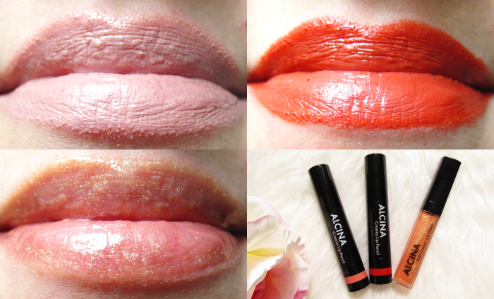 Tragebilder ALCINA Creamy Lip Pencil´s in Savanna & Mexicana &  Soft Colour Lip Gloss in Gold