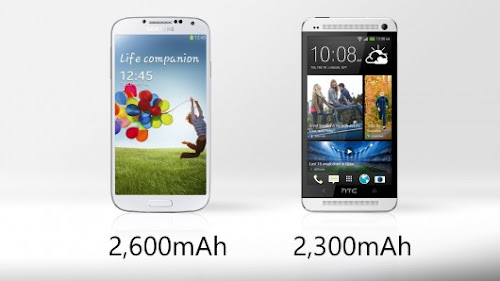 Samsung Galaxy S4 vs HTC One - Battery Life Comparison
