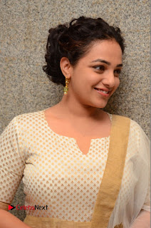 Actress Nithya Menen Pictures at 100 Days of Love Pre Release Press Meet  0005.JPG