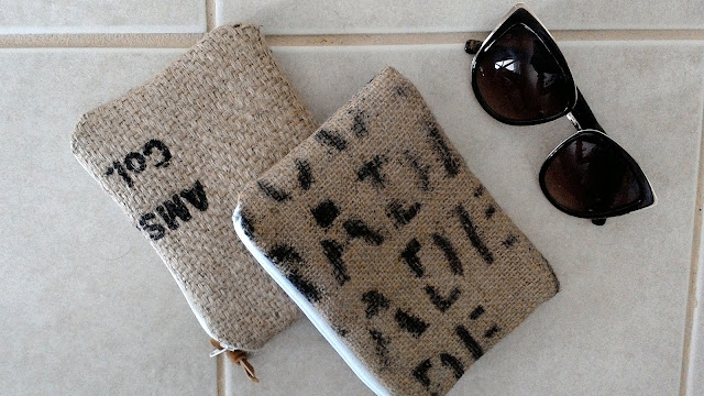 burlap zipper pouches by linaandvi.com