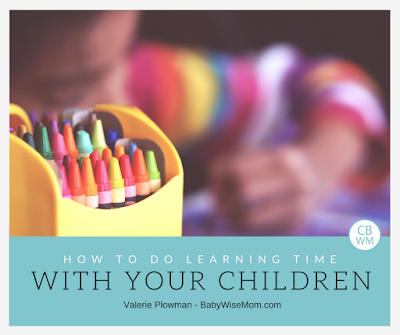 How To Do Learning Time With Your Children Each Day | Learning time | learning activities | #learningactivities