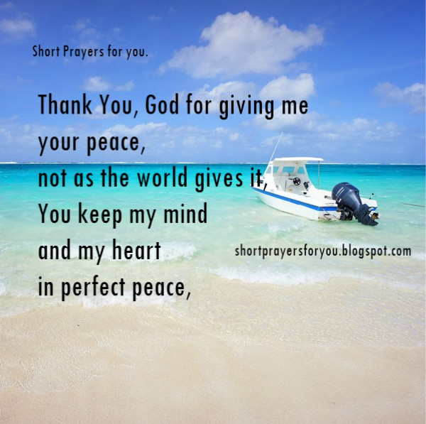 Short prayer for peace free christian image card, prayer for you and me by Mery Bracho