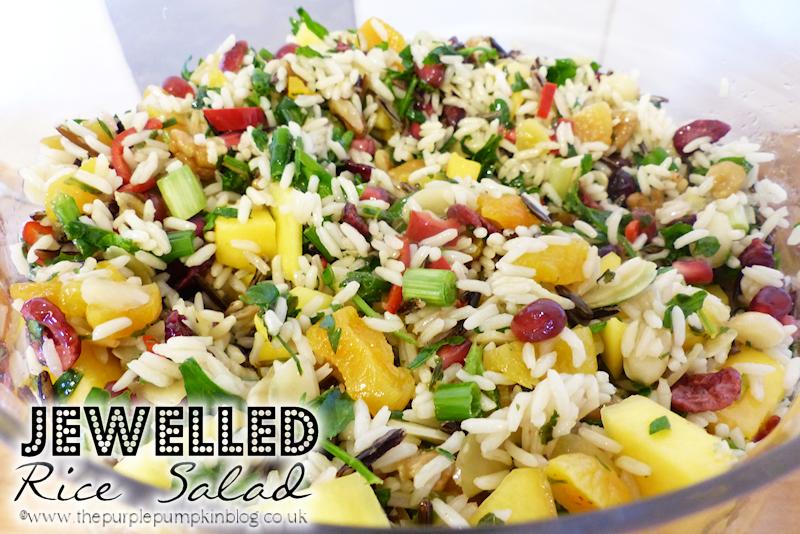 Easy #Vegetarian #Salad for #Christmas - Jewelled Rice Salad