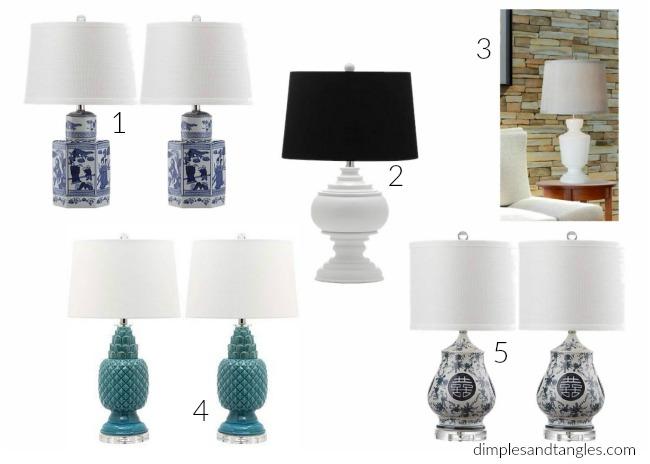 lamps, budget lighting, home decor, walmart
