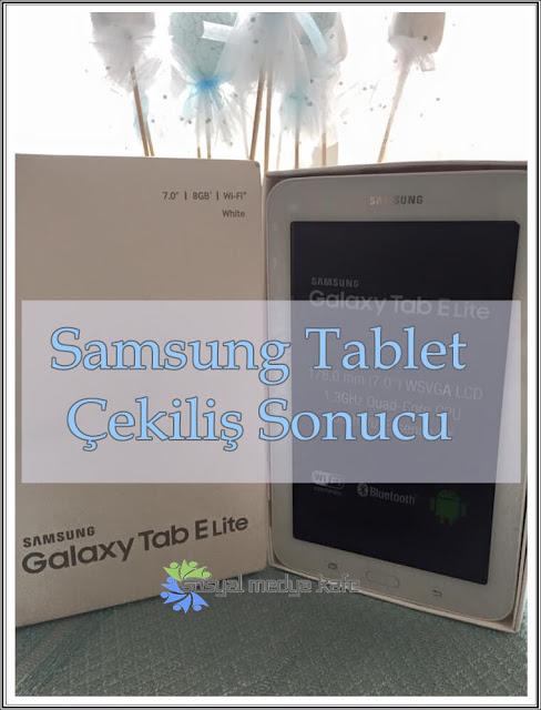 Samsung Tablet Çekilişi Sonucu