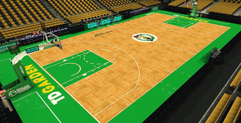 NBA 2K14 Boston Celtics Court V2 (HD Texture Mod) - NBA2K.ORG