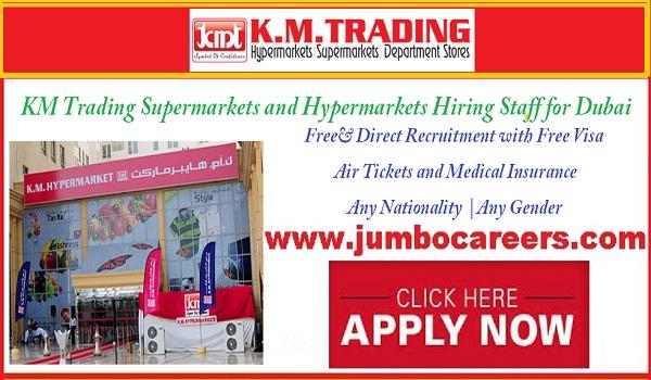 Details of Dubai super market jobs, Latest hypermarket jobs in Dubai attractive salary,