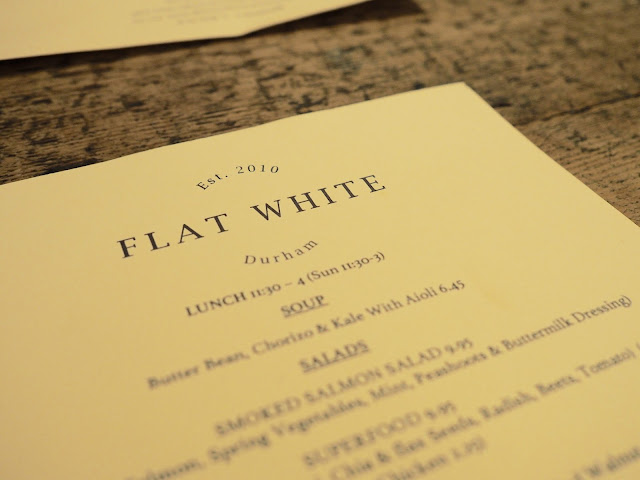 Flat White Kitchen Durham Menu