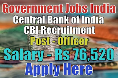 Central Bank of India CBI Recruitment 2017