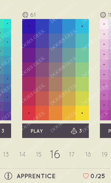 I Love Hue Apprentice Level 16 Solution, Cheats, Walkthrough