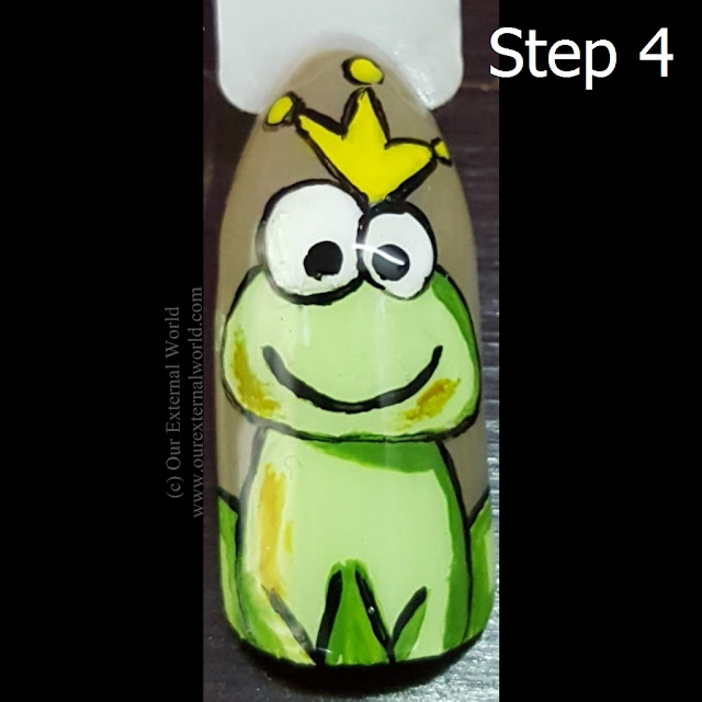 Step By Step Frog Nail Art Tutorial