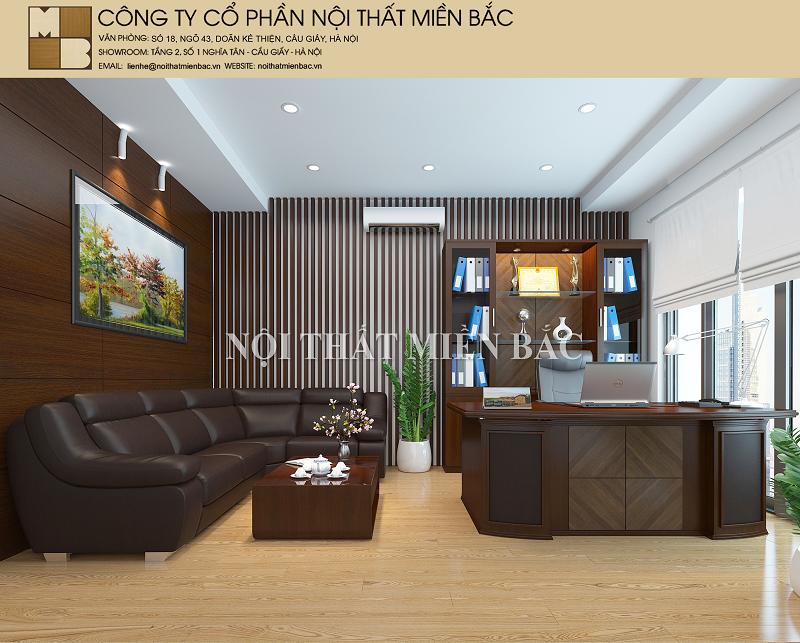 Thiết kế nội thất phòng giám đốc đẳng cấp và uy quyền