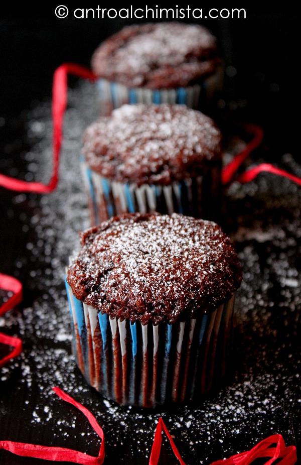 Muffin con Cachi e Cacao