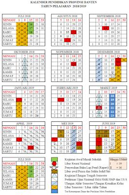 Download Kalender Pendidikan Tahun Ajaran 2018/2019 Provinsi Banten
