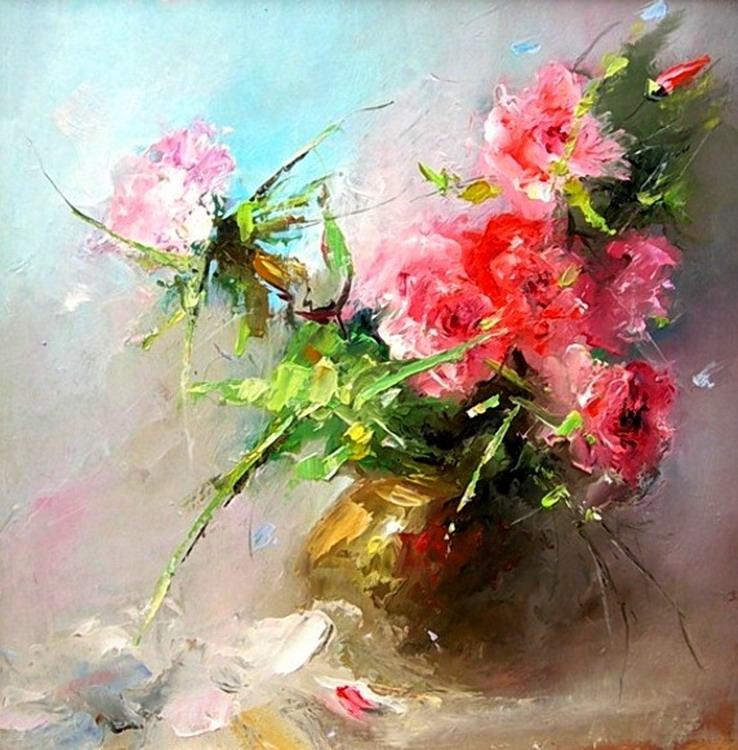 Im genes arte pinturas bodegones modernos impresionistas - Cuadros florales modernos ...