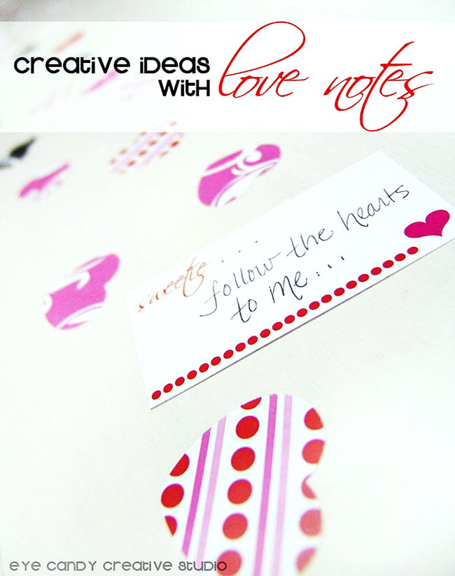 valentines day ideas, love notes, mini love notes, love messages