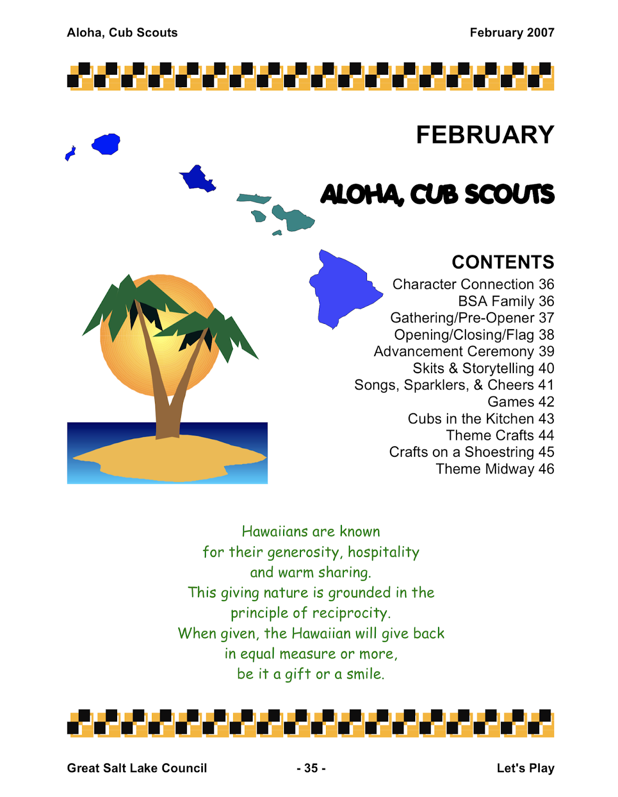 image relating to Cub Scout Flag Ceremony Printable identify Akelas Council Cub Scout Chief Working out: Aloha Cub Scouts