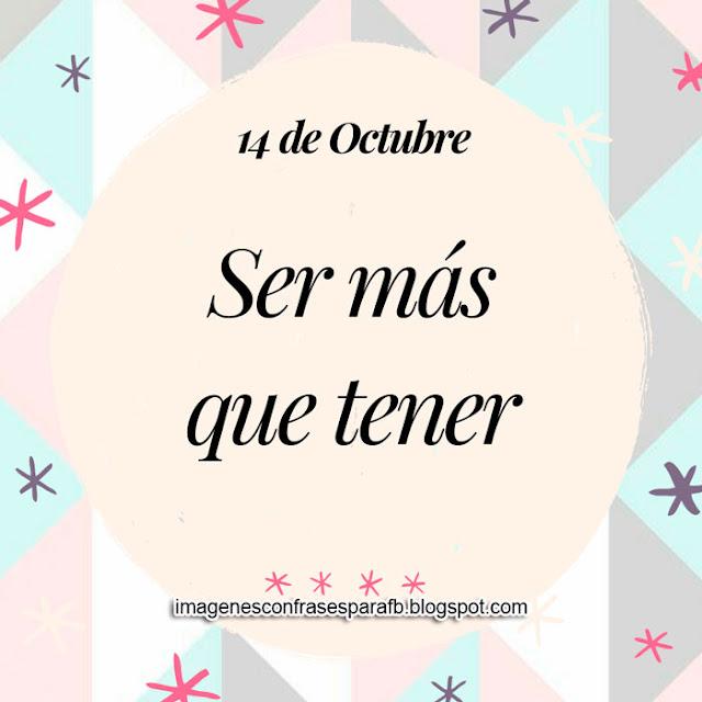 Frase del Día 14 de Octubre