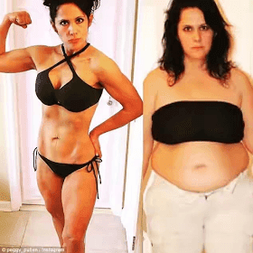 Check out woman's before and after weight loss photos