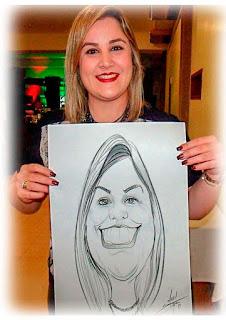 caricaturista para evento de odontorrinolaringologia