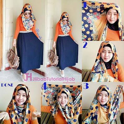 tutorial hijab segi empat modern ke kampus terbaru