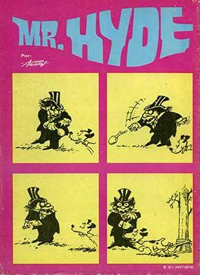 Mr. Hyde de Alfons Figueras, historieta publicada en el número 6 de Famosos Monsters del cine