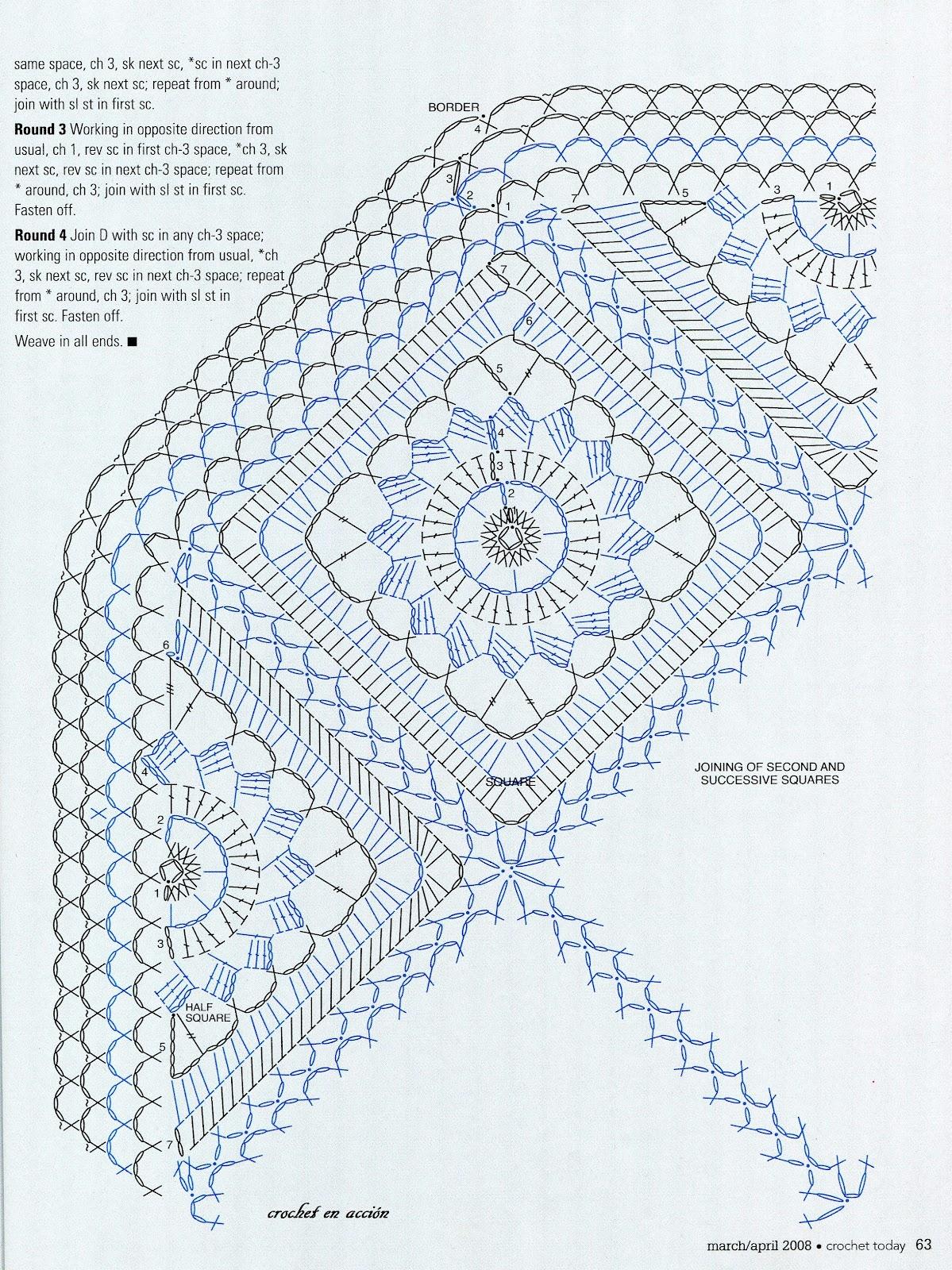 Ergahandmade Crochet Blanket Diagrams Free Pattern Squarecrochetmotifpatterndiagram Http Ergahandmadeblogspotgr 2015 06 Stitcheshtml Via Crochetenaccionblogspotgr 2012 05 Un Rayito De Sol Entre Tonos Azuleshtml