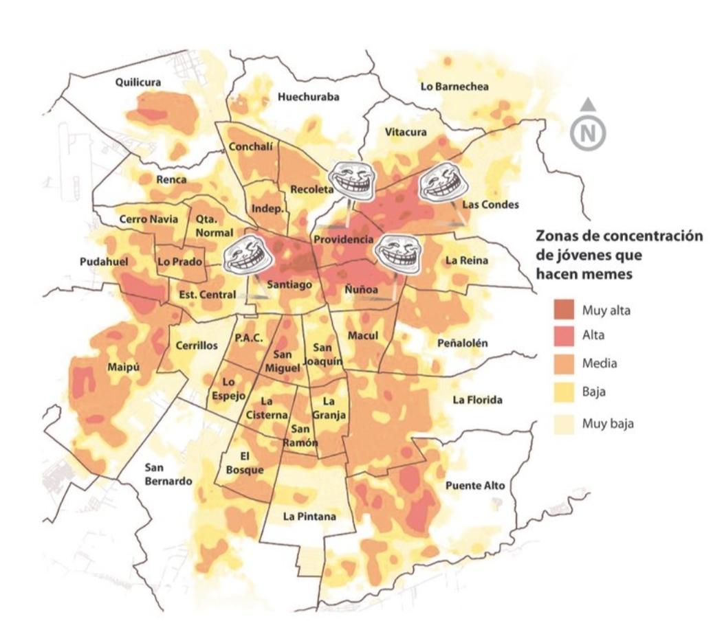 Geografo De La Uc Crea Mapa De Memes Comuna Por Comuna De La Region