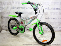 20 Inch Family Champion Suspension BMX Bike Silver/Green