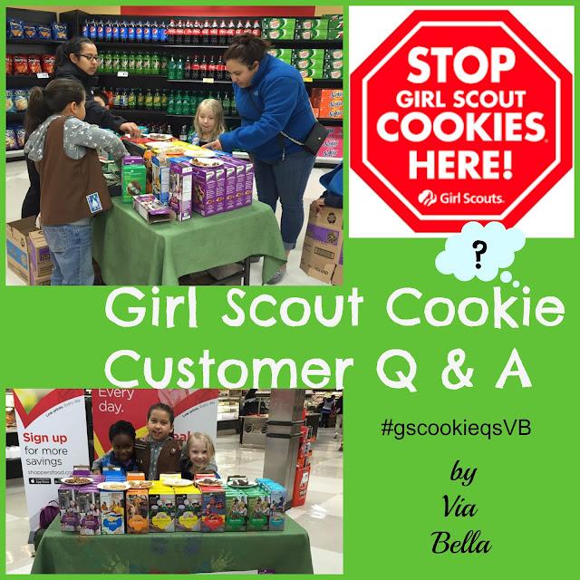 Girl Scouts, Cookie Season, Customers, Q&A, Via Bella, Troop 5823