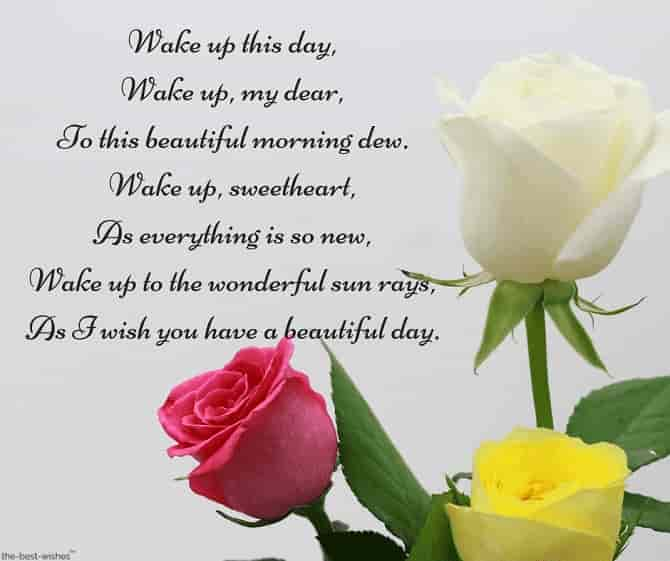 good morning poems for her with roses