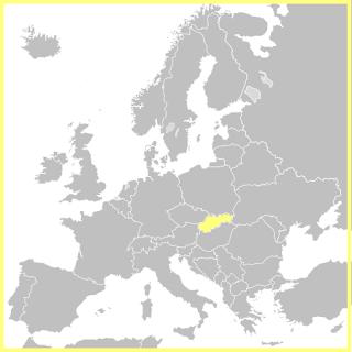 Situación de Eslovaquia en Europa