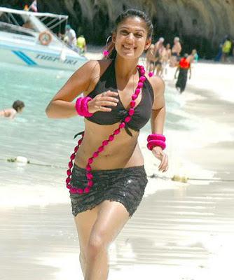 nayanthara hot look black photo beach - 50+ Sexiest Bikini Photos of Nayantara:Hot Naval & Boob Cleavage Images
