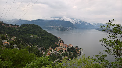 View south toward ferry landing in Varenna