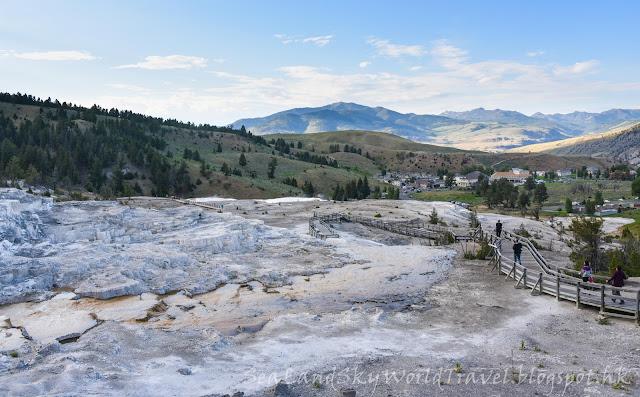 黃石國家公園, Mammoth Hot Springs, yellowstone national park, Upper Terraces