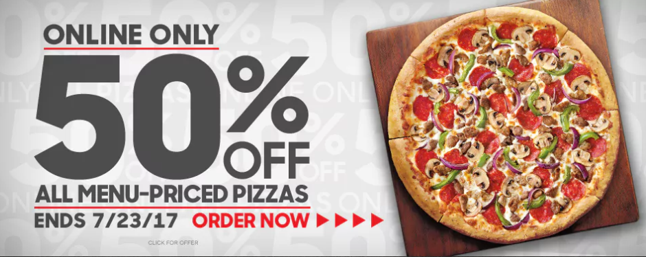 50 best Pizza Hut coupons and promo codes. Save big on pizzas and salads. Today's top deal: 50% off. Goodshop works with Pizza Hut to offer users the best coupon discounts AND makes a donation to your favorite cause when you shop at participating stores. Goodshop; Goodshop App;.