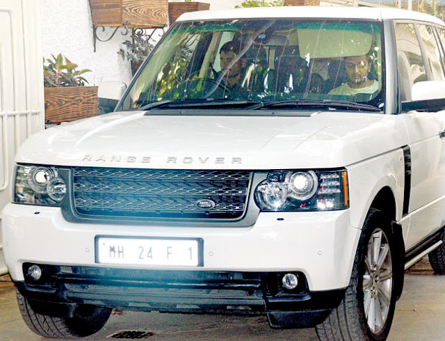 Ritesh Deshmukh's car with his lucky number 1