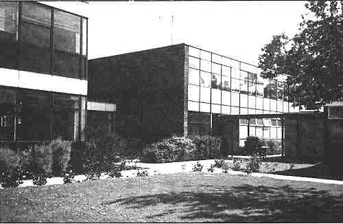 Photograph of Sixth form block completed 1971 (photo 1988), image from Lilian Caras