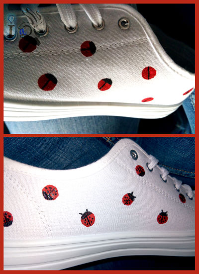 Pintado-mariquitas-en-zapatillas-Ideadoamano