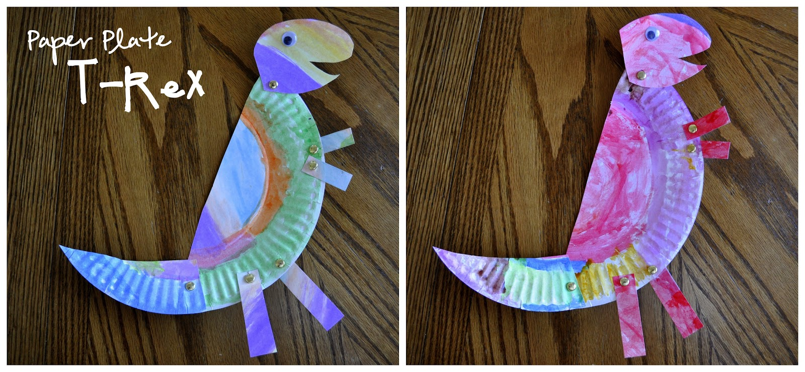 Paper Plate T-Rex | I Heart Crafty Things