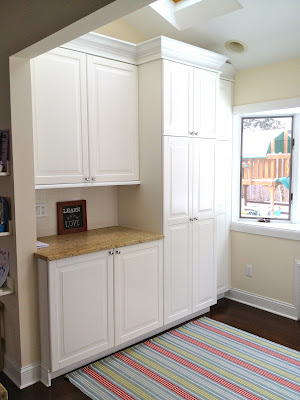 extra counter space mudroom lockers
