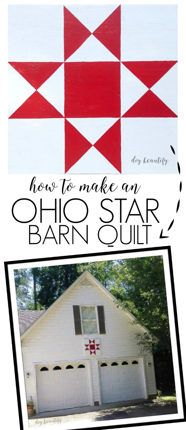 DIY barn quilt Ohio Star